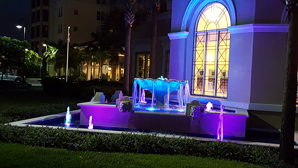 Fountain with LED Lighting